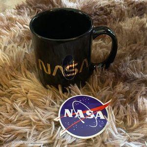 NASA worm logo mug and laptop sticker bundle lot